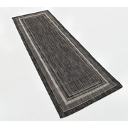 August Grove Kennedy Black Outdoor Area Rug; 5' x 8' by