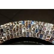 Bloomsbury Market Quatrefoil Mosaic Glass Accent Mirror