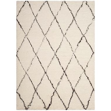 Gracie Oaks Erica Hand-Tufted Wool Ivory Area Rug; 3' x 5'