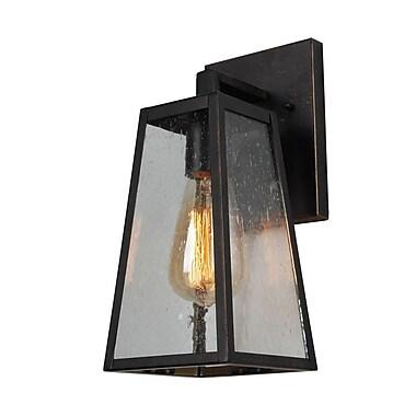 Ivy Bronx Devaney 1-Light Outdoor Wall Lantern; 9'' H x 7.25'' W x 5'' D