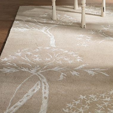 August Grove Mandy Hand-Tufted Sand / Ivory Area Rug; Runner 2'3'' x 7'