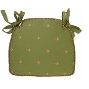 August Grove Tailored Dining Chair Cushion; Green