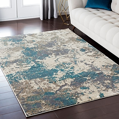 Mistana Camillei Blue/Brown Area Rug; 7'10'' x 10'3''