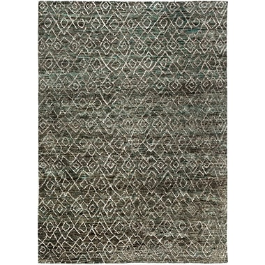 Williston Forge Albert Hand-Knotted Forest/Olive Area Rug; 5' x 8'