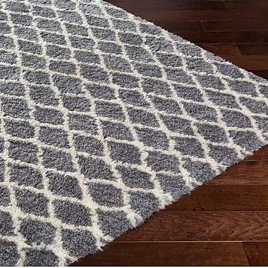 Williston Forge Keith Trellis Gray/Beige Area Rug; 8' x 10'