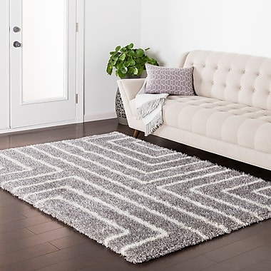 Williston Forge Kolton Geometric Gray Area Rug; 2' x 3'