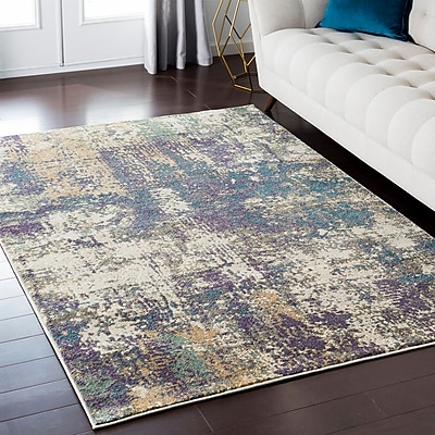 Williston Forge Enrique Purple/Brown/Beige Area Rug; 7'10'' x 10'3''