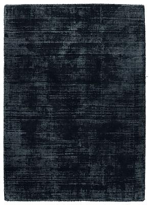 Williston Forge Zayne Hand-Woven Ink Blue Area Rug; 9' x 12'