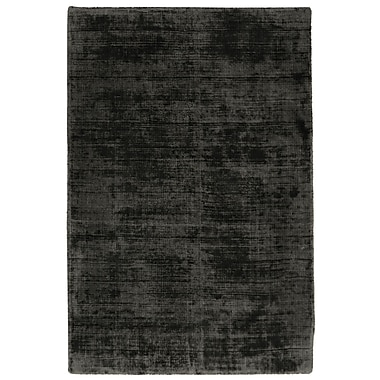 Williston Forge Zayne Hand-Woven Charcoal Area Rug; 2' x 3'