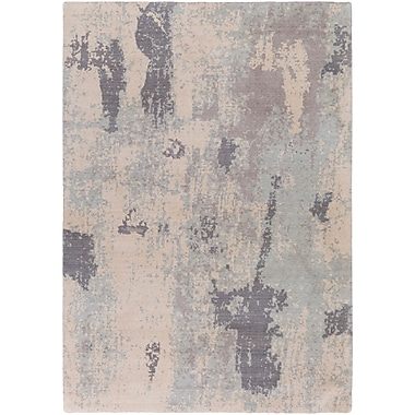 Williston Forge Jonas Rectangle Neutral/Blue Area Rug; 5'3'' x 7'6''