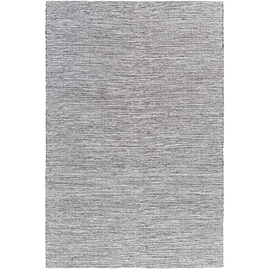 Williston Forge Hugo Hand-Woven Black/White Area Rug; 6' x 9'