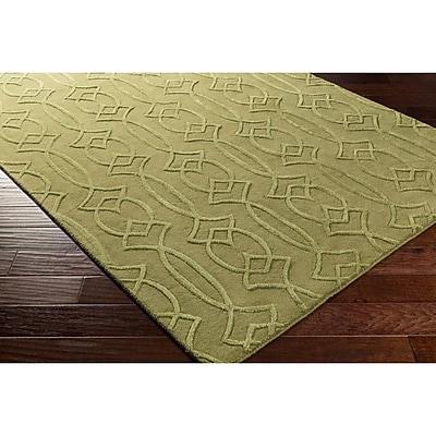 Winston Porter Pamela Hand-Tufted Green Area Rug; 2' x 3'