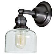 Gracie Oaks Edgar 1-Light Armed Sconce; Gun Metal
