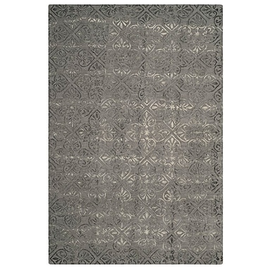 Ophelia & Co. Edmeston Hand-Tufted Gray Wool Area Rug; Round 7'