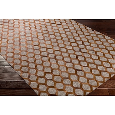 Williston Forge Armando Hand-Crafted Brown/Neutral Indoor Area Rug; 8' x 10'