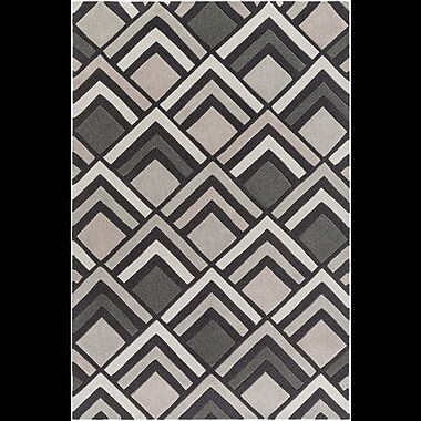 Williston Forge Harvey Hand-Tufted Charcoal/ Gray Area Rug; 3'6'' x 5'6''