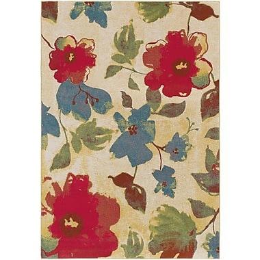 Winston Porter Doris Saffron/Bright Red Area Rug; 7'10'' x 10'6''