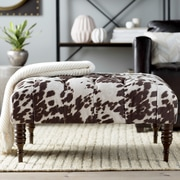 17 Stories Jaden Tufted Cocktail Ottoman; Dark Brown