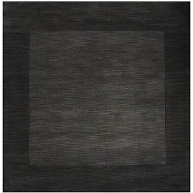 Winston Porter Bradley Charcoal Area Rug; Square 6'