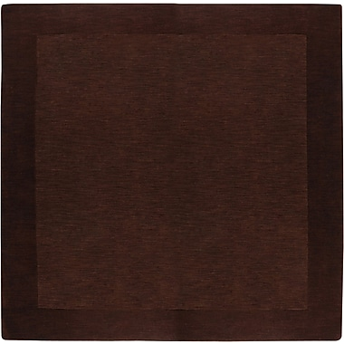 Winston Porter Bradley Chocolate Border Rug; Square 6'