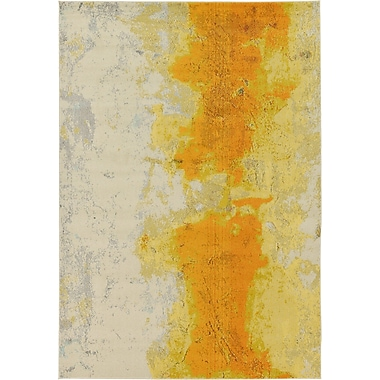 Latitude Run Tavistock Yellow Area Rug; 7' x 10'