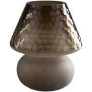 17 Stories Traditional Glass Honeycome Table Vase; Brown