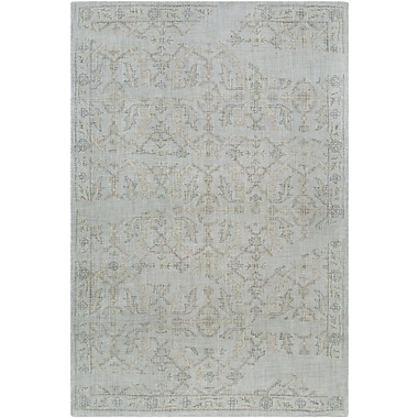 Charlton Home Alexis Hand-Tufted Medium Gray/Sage Area Rug; 2' x 3'