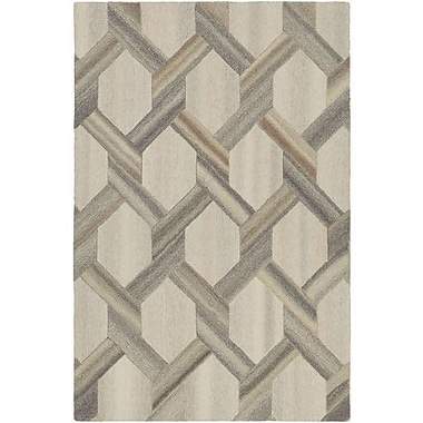 Williston Forge Ace Hand-Tufted Butter/Khaki Area Rug; 5' x 7'6''