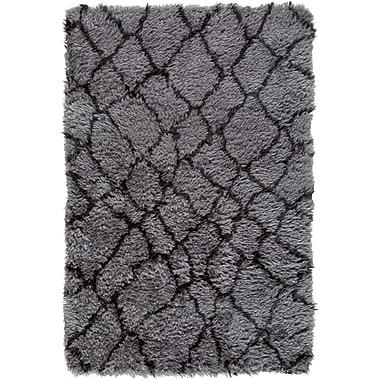 Williston Forge Keith Gray/Black Area Rug; 8' x 10'