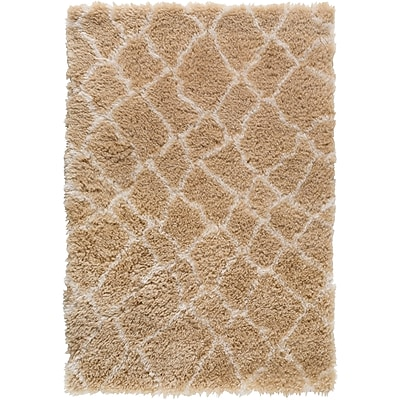 Williston Forge Keith Brown/White Area Rug; 2' x 3'