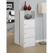Ebern Designs Mcgee 3 Door Accent Cabinet; White