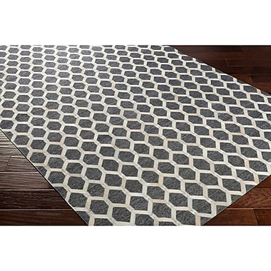 Williston Forge Armando Hand-Crafted Neutral/Gray Indoor Area Rug; 2' x 3'