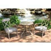 Gracie Oaks Giraud 3 Piece Bistro Set w/ Cushions