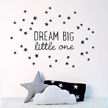 Koko Kids ''Dream Big Little One'' Fabric Wall Decal
