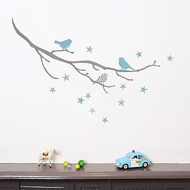Koko Kids Birds on a Branch Fabric Wall Decal