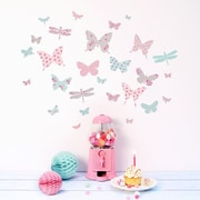 Koko Kids Mini Vintage Floral Butterflies Fabric Decal