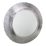 17 Stories Groove Silver Wall Mirror