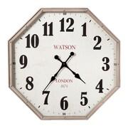 17 Stories Hexagon Analog Wall Clock