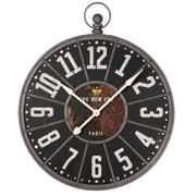 17 Stories 31.5'' Oversized Black/Gold Wall Clock