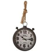 17 Stories 13'' Distressed Black Wall Clock