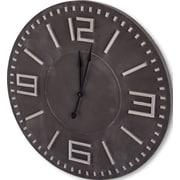 17 Stories 42'' Brown/Black Wall Clock