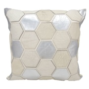 Union Rustic Shonnard Natural Leather Hide Throw Pillow