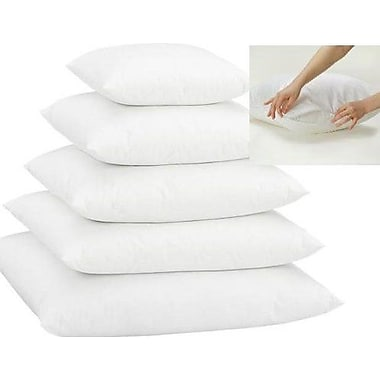 Alwyn Home White Super Soft Pillow Insert w/ Protectors (Set of 2); 13'' H x 13'' W