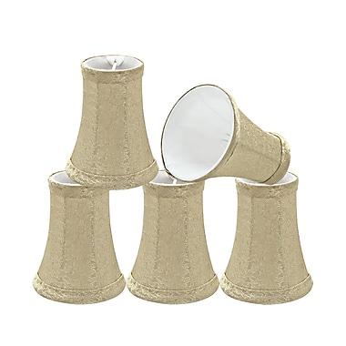 Aspen Creative Corporation 4'' Fabric Bell Candelabra Shade (Set of 5)
