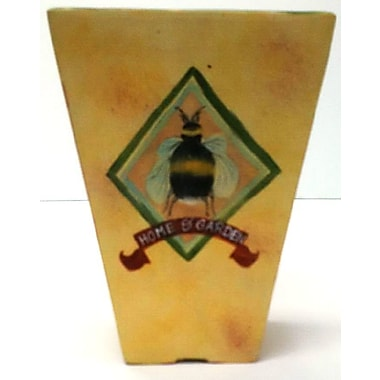 August Grove Yellow Ceramic Table Vase