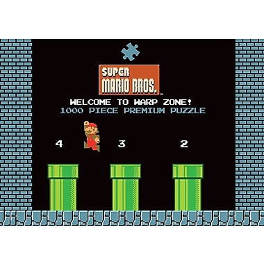 Super Mario Bros. World 1-2 Welcome to Warp Zone! Puzzle