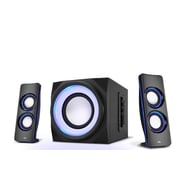 Cyber Acoustics CA-3712BT Curve Lights Bluetooth Speaker System with LED Lighting Effects
