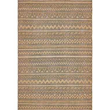 Bloomsbury Market Lukas Light Brown Outdoor Area Rug; 6' x 9'