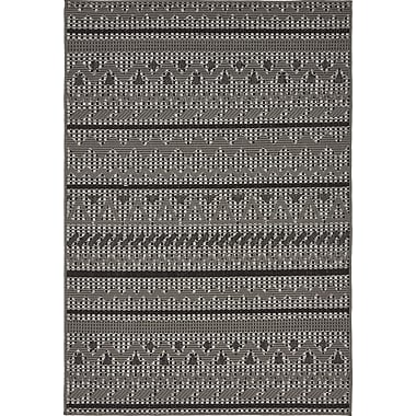 Bloomsbury Market Lulu Yellow Pine Gray Outdoor Area Rug; 4' x 6'