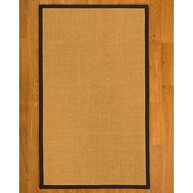Breakwater Bay Coleridge Hand Woven Fiber Sisal Brown/Fudge Area Rug; Runner 2'6'' x 8'